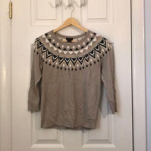 Ann Taylor fair isle sweater